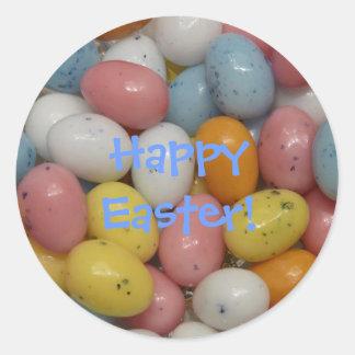 Pegatina feliz del Jellybean de Pascua