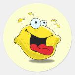 Pegatina feliz del limón del dibujo animado