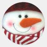 Pegatina feliz del muñeco de nieve