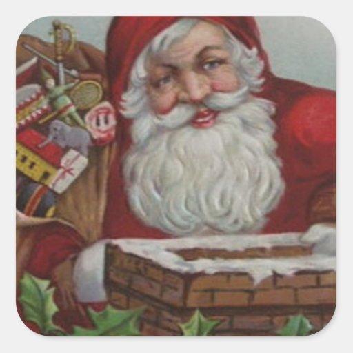 Pegatina feliz del navidad de Santa