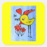 Pegatina feliz del pájaro