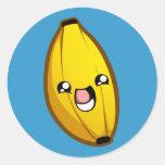 Pegatina feliz del plátano