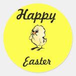 Pegatina feliz del polluelo de pascua