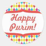 Pegatina feliz del purim
