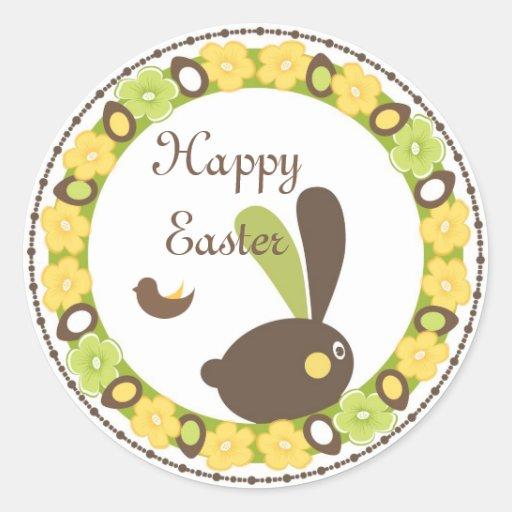 Pegatina feliz del saludo de Pascua