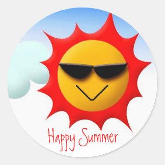 Pegatina feliz del verano