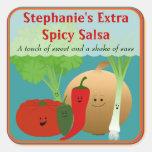 Pegatina feliz personalizado de la salsa