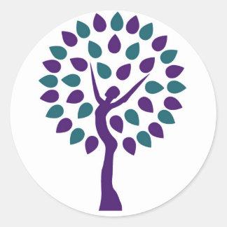 Pegatina feminista - apenas árbol