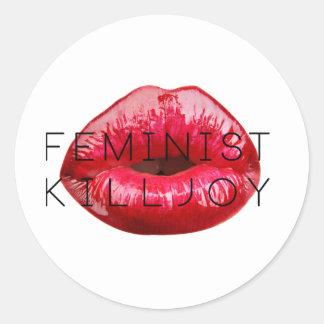 Pegatina feminista del Killjoy
