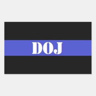 Pegatina fino del agente de la autoridad de DOJ