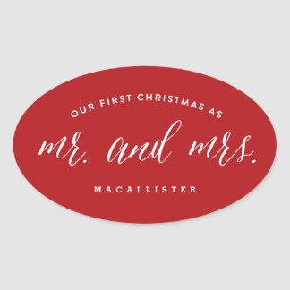Pegatina First Christmas Holiday de Sr. y de