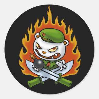 Pegatina Flippy del tatuaje de la llama