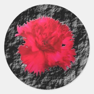 Pegatina floral de Fantsay del clavel rojo