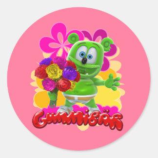 Pegatina floral de Gummibär
