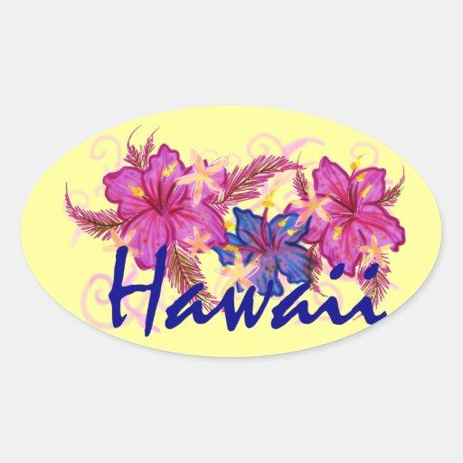 Pegatina floral de Hawaii