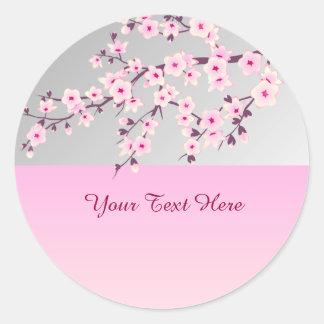 Pegatina floral de las flores de cerezo