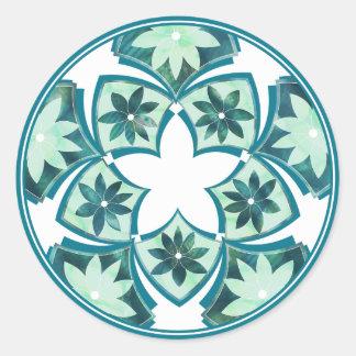 Pegatina floral decorativo de las tejas del
