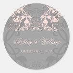 pegatina floral del boda de los rosas bebés del