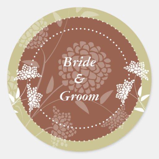 Pegatina floral del boda del amaranto:: Cervatillo