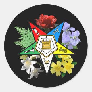 Pegatina floral del emblema de OES
