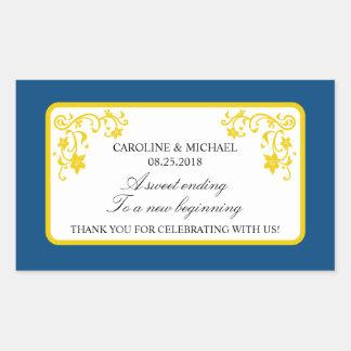 Pegatina floral del favor del boda