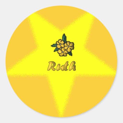 Pegatina floral del punto de la estrella de OES -
