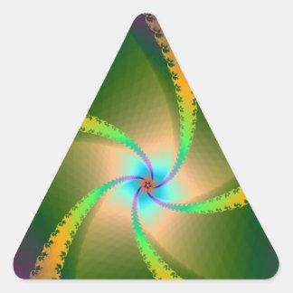Pegatina floral del triángulo de las cintas