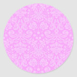 Pegatina floral rosado del damasco