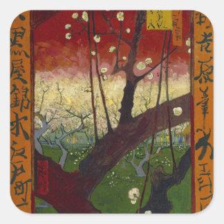 Pegatina floreciente del árbol de ciruelo