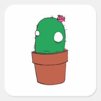 Pegatina floreciente del cactus