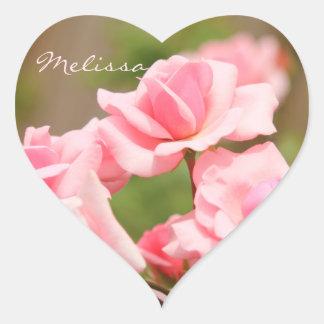 Pegatina fragante rosado suave elegante de los