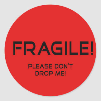 Pegatina frágil para la mercancía valiosa
