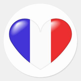 Pegatina francés del corazón - français de Coeur
