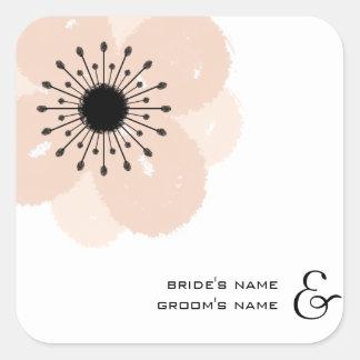 Pegatina francés rosado del boda de la anémona