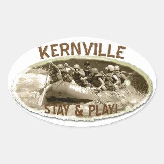 ¡Pegatina fresco de Kernville! Pegatina Ovalada