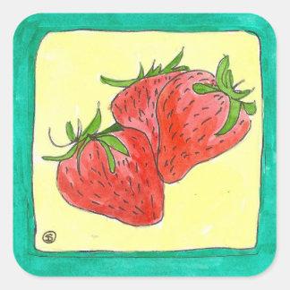 pegatina fresco de la fresa