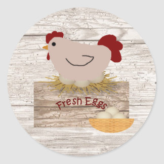 Pegatina fresco de los huevos