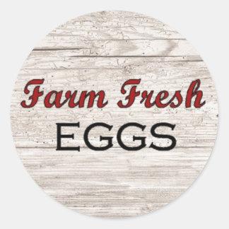 Pegatina fresco de los huevos de la granja