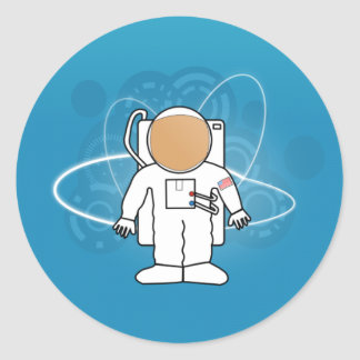 Pegatina fresco del astronauta
