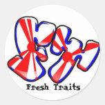 pegatina fresco del logotipo de los rasgos