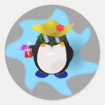 Pegatina fresco del pingüino del verano