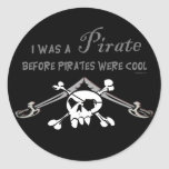 Pegatina fresco del pirata
