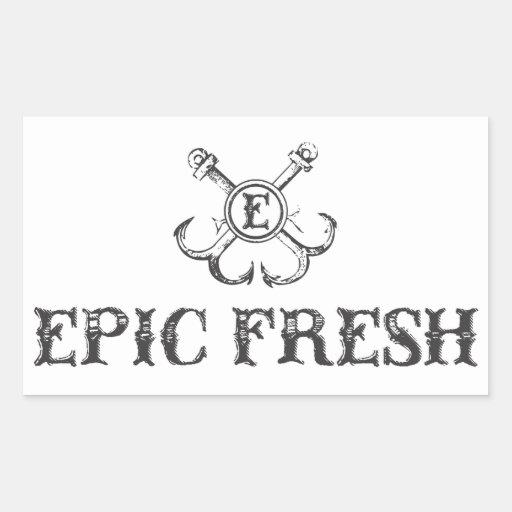 Pegatina fresco épico del logotipo