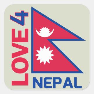 Pegatina fuerte de Nepal de la estancia
