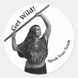 Pegatina Fundraising de la mujer salvaje para su