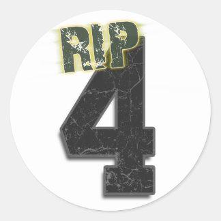Pegatina fúnebre de Brett Favre del RASGÓN #4