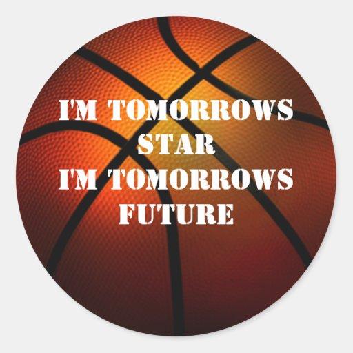 Pegatina futuro del baloncesto de las mañanas de l