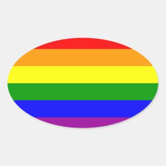 Pegatina gay del óvalo de LGBT Pride*