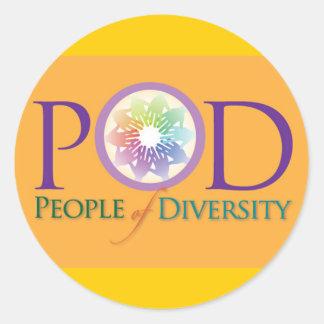 Pegatina - gente de la diversidad