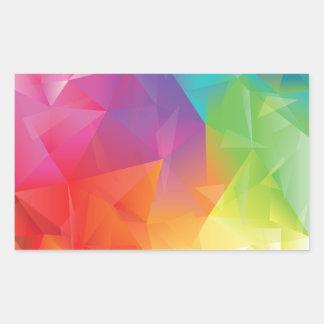 Pegatina geométrico abstracto del arco iris